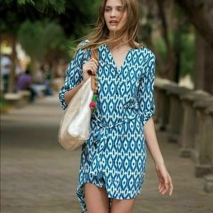 Anthropology Maeve Shirt dress with tie